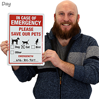 Pet Alert Sign