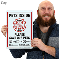 Pets Inside Sign