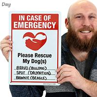 Pet Rescue Sign