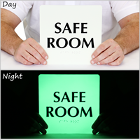 Safe Room TactileTouch™  Braille Sign