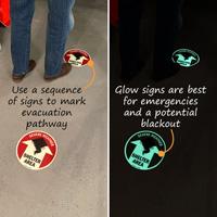 Emergency Floor Sign - Severe Weather Shelter Area Sign
