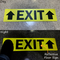 "Exit with Up Arrows 6"" x 24"" SlipSafe™ Floor Sign"
