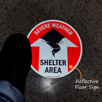 Severe Weather Shelter Area (with Up Arrow)