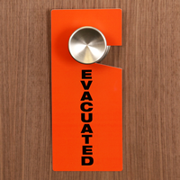 Evacuated Plastic Door Knob Hanger Tags