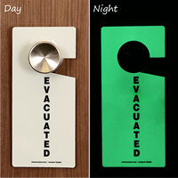 Glow-in-the-Dark Evacuated Plastic Door Knob Hang Tags