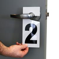 Numbered Door Hanger