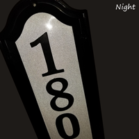 Nite Bright Reflective Address Sign