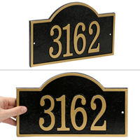 Fast And Easy Arch House Number Address Plaque