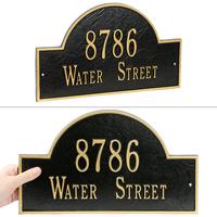 Arch Marker Standard Wall Address Plaque