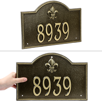 Bayou Vista Standard Wall Address Plaque
