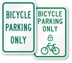 Bike Parking Sign Symbols