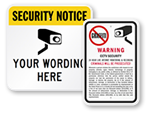 Legality of Surveillance Signs