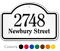 2748 Newbury Street Custom Dome Top Sign