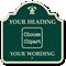 Custom Palladio Sign - Choose Clipart, Add Wording