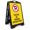 Custom No Parking Sidewalk Sign Insert