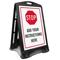 Custom Stop Instructions Sidewalk Sign
