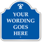 Custom Blue Reverse Designer Palladio Sign with Motif