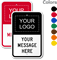 Customizable Split Sign With Logo