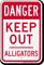 Keep Out Alligators Danger Sign