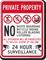 Private Property No Skateboarding Surveillance Sign