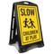 Children Playing Football Sidewalk Sign Kit