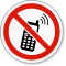 ISO Keep Off Cell Phones Prohibition Symbol Label