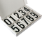 Vinyl Numbers Kit 3.5 Inch Tall Black on White