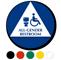California All-Gender Restroom Sign with Handicap Symbol