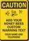 Custom Caution Bee Warning Sign