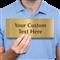 Custom Engraved Brass Sign