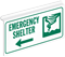 Emergency Shelter Sign For Ceiling