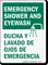 Emergency Shower & Eyewash Emergency Sign (Bilingual)