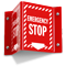 Emergency Stop Projecting Sign