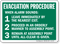 Evacuation Procedure Assembly Point Sign
