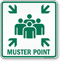 Muster Point Emergency Sign