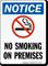 Notice No Smoking On Premises Sign