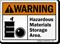 Hazardous Materials Storage Area ANSI Warning Sign