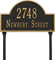 Arch Marker Standard Two Lines Lawn Plaque