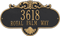 Rochelle Grande Wall Address Plaque, Two Lines