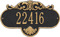 Rochelle Standard Wall Address Plaque, One Line
